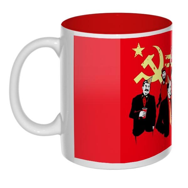 Communism party, кружка цветная внутри