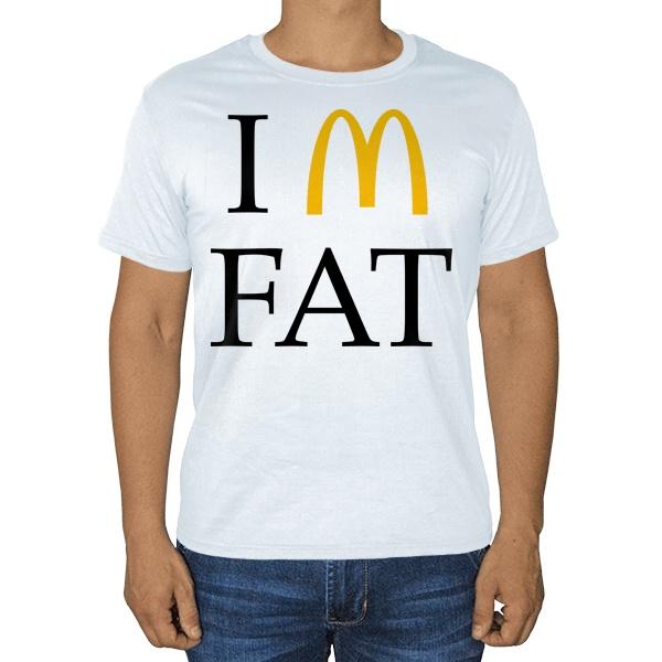 Белая футболка I am fat