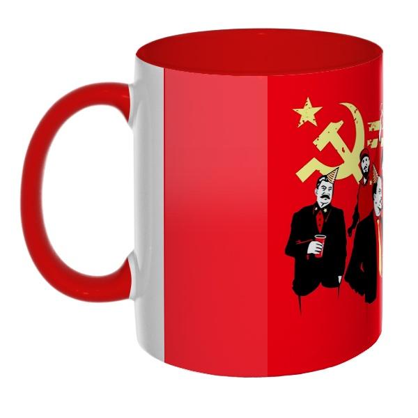 3D-кружка Communism party, цветная внутри и ручка