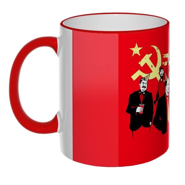 Цветная 3D-кружка (ободок + ручка) Communism party