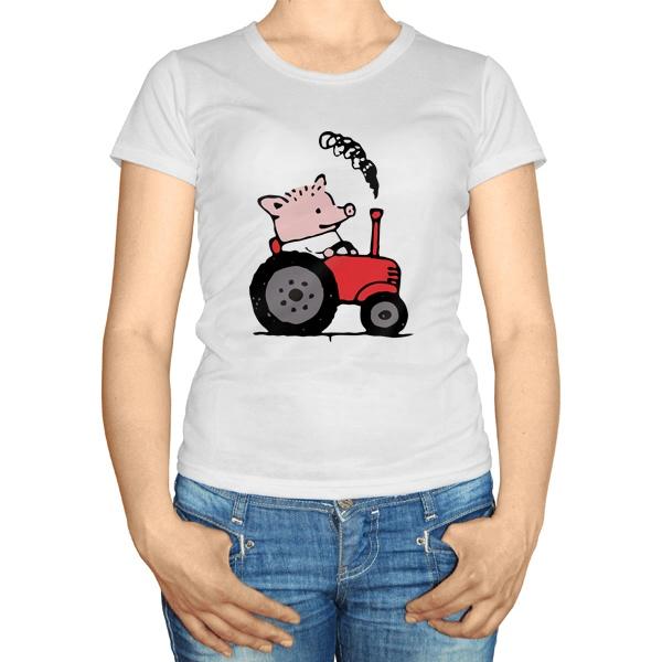 Женская футболка Поросёнок Пётр
