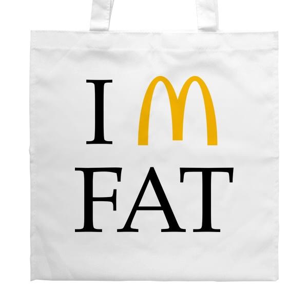 Белая сумка I am fat