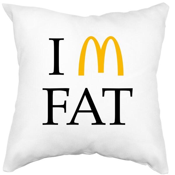 Подушка белая I am fat