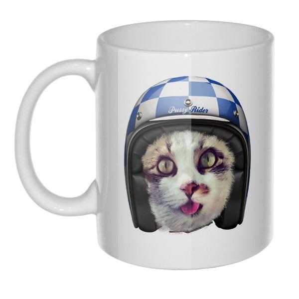 Кружка Кошка в шлеме