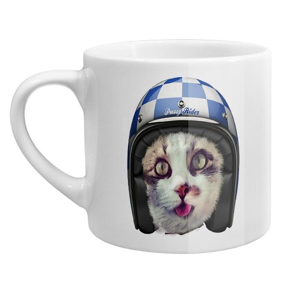 Кофейная чашка Кошка в шлеме