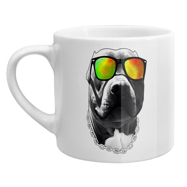 Кофейная чашка Бульдог в очках