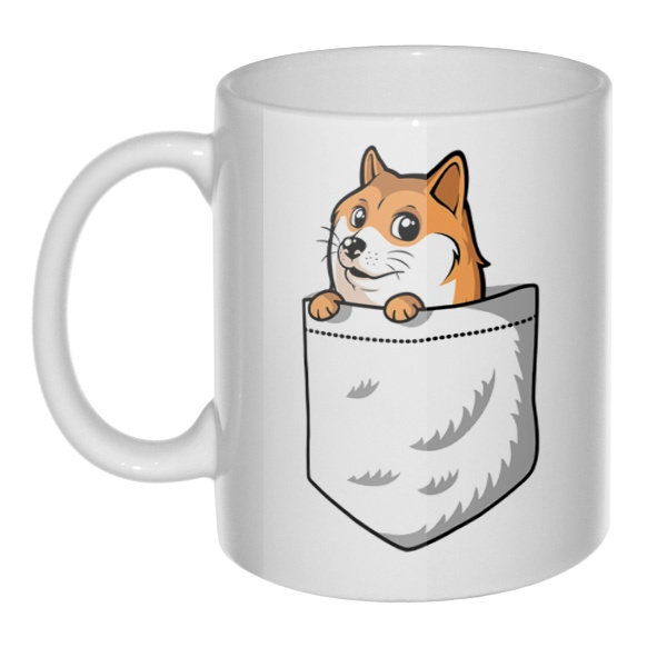 Кружка Собакен (Wow Doge), цвет белый