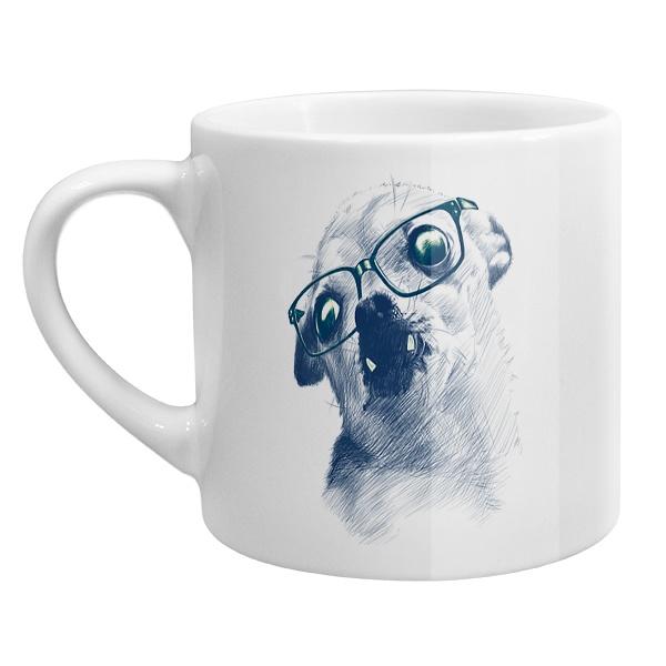 Кофейная чашка Чихуахуа в очках