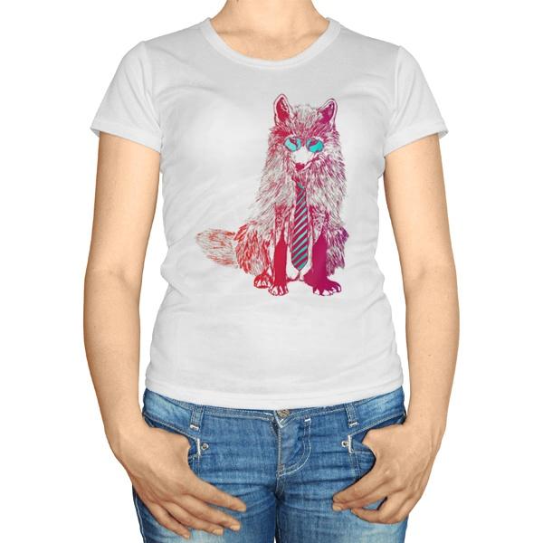 Женская футболка Модный лис