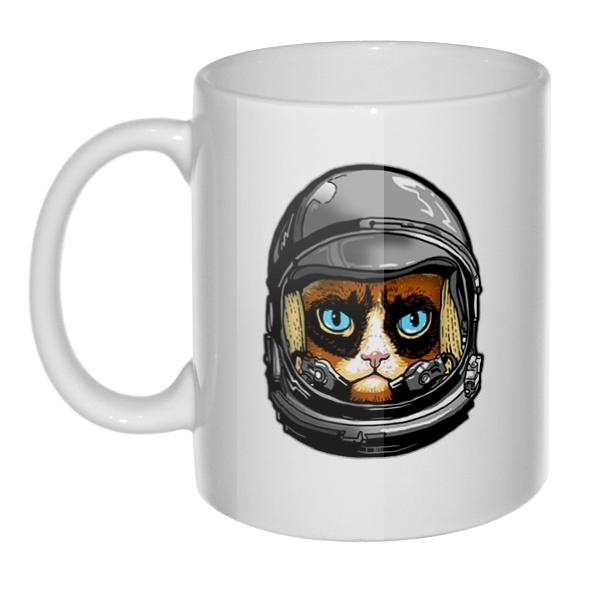 Кружка Кот в космическом шлеме