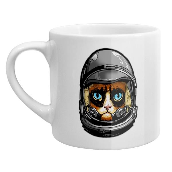 Кофейная чашка Кот в космическом шлеме