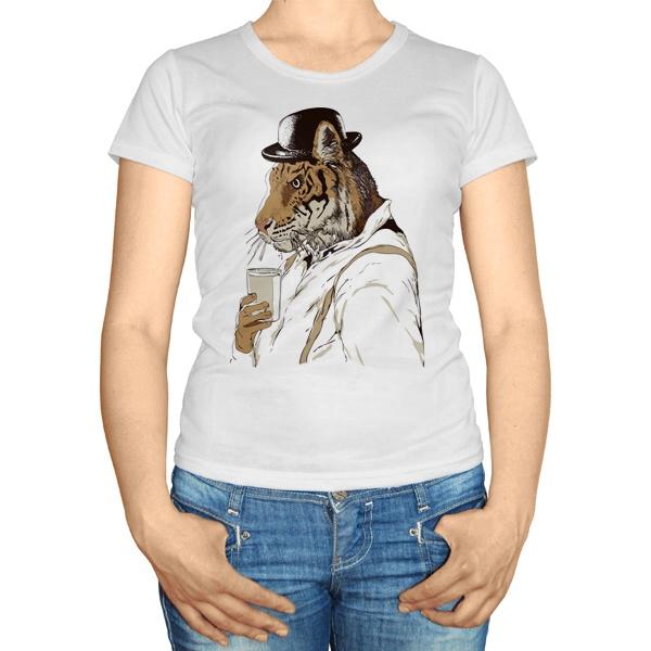 Женская футболка Тигр-человек