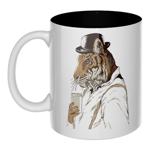 Тигр-человек, кружка цветная внутри