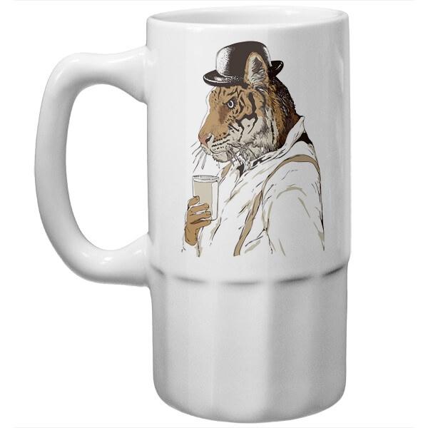 Пивная кружка Тигр-человек