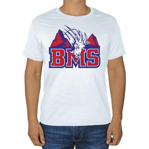 Белая футболка BMS (Реальные парни)
