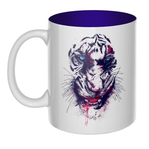Тигр, кружка цветная внутри