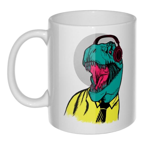 Кружка Динозавр в рубашке
