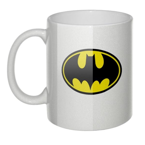 Перламутровая кружка Эмблема Бэтмена (Batman logo)