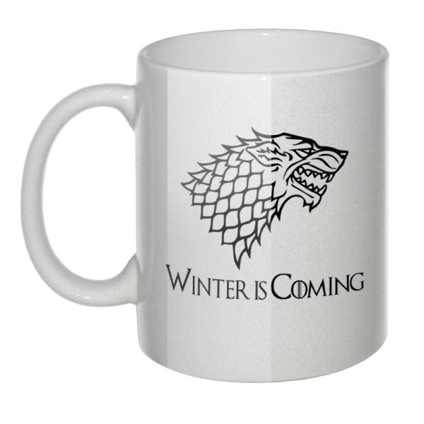 Перламутровая кружка Игра престолов (Stark)