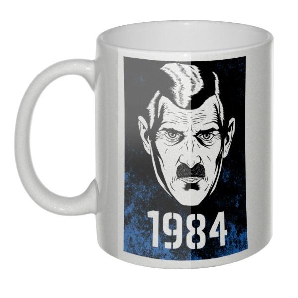 Перламутровая кружка Big brother is watching for you, 1984 (Джордж Оруэлл)