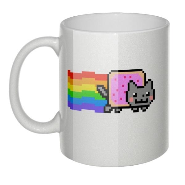 Перламутровая кружка Nyan Cat (Нян Кэт)
