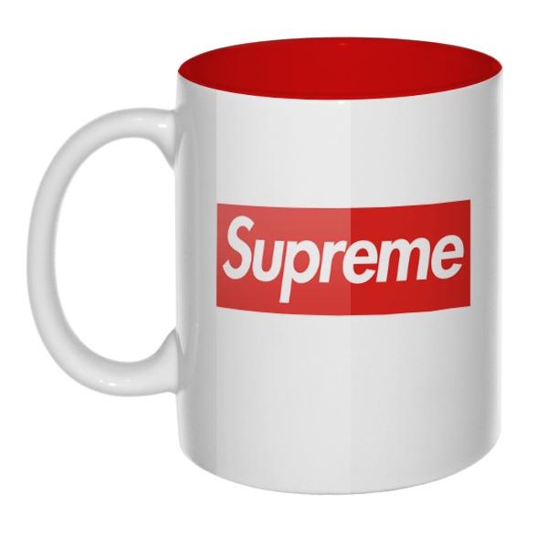 Кружка цветная внутри Supreme