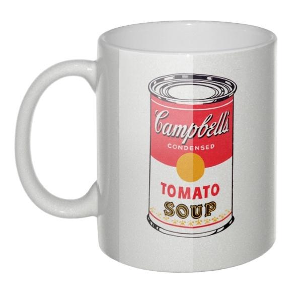 Перламутровая кружка Энди Уорхол: суп Campbell