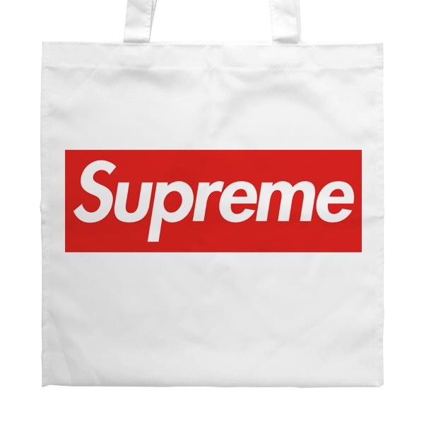 Белая сумка Supreme