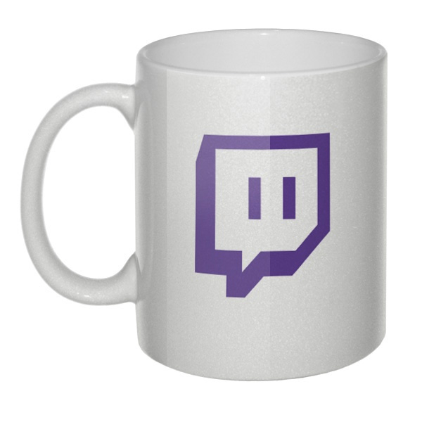 Перламутровая кружка Лого Twitch