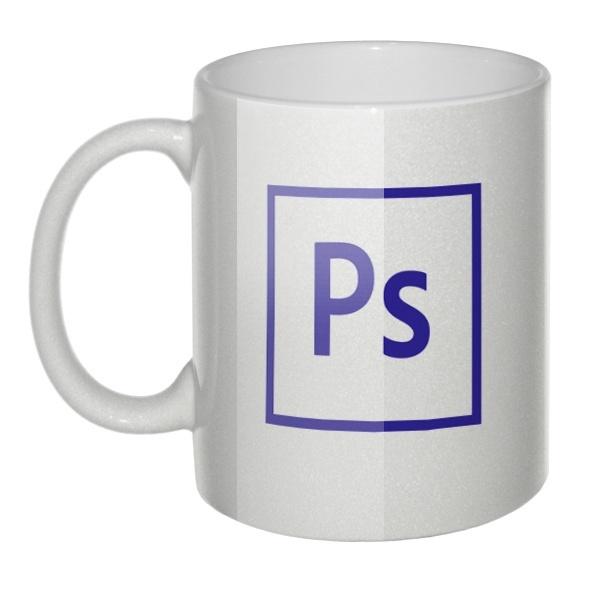Перламутровая кружка Логотип Photoshop
