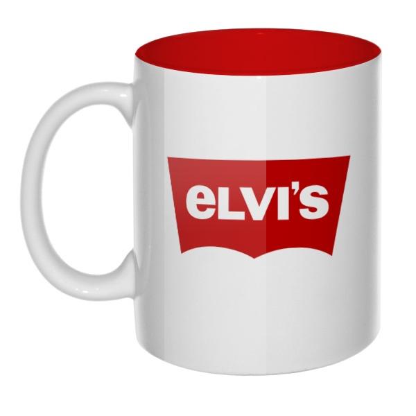 Кружка цветная внутри Elvis vs Levis