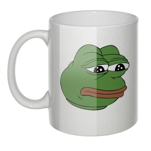 Перламутровая кружка Pepe the frog