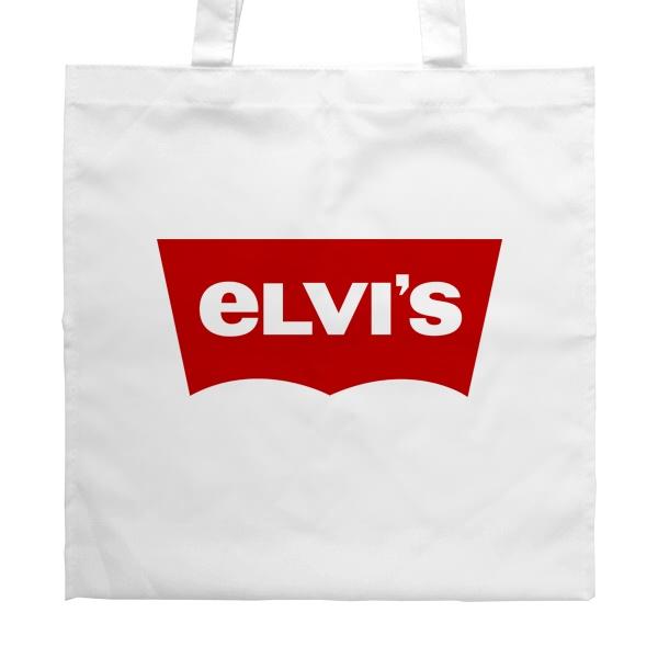 Белая сумка Elvis vs Levis