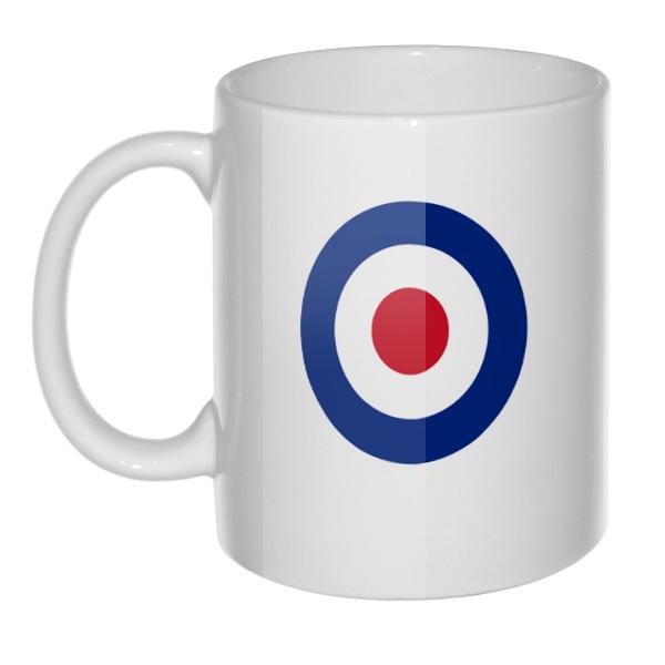 Кружка Эмблема ВВС Великобритании, цвет белый