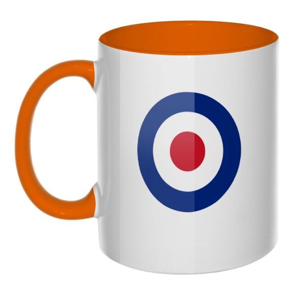 Кружка Эмблема ВВС Великобритании цветная внутри и ручка