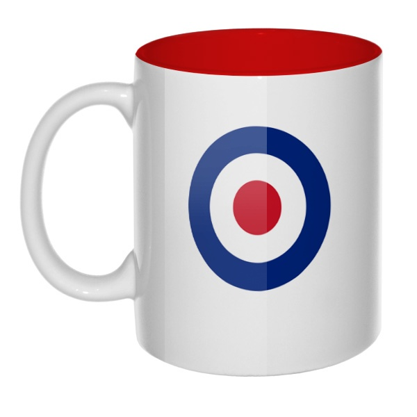 Кружка цветная внутри Эмблема ВВС Великобритании