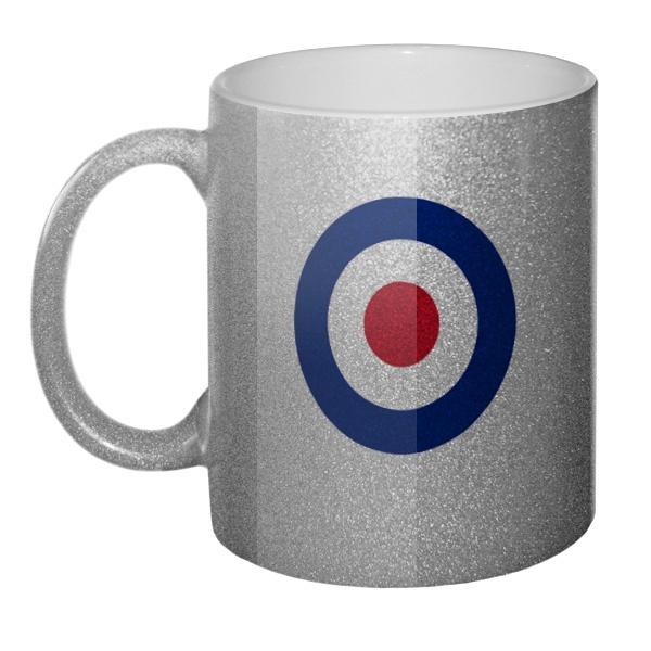 Кружка блестящая Эмблема ВВС Великобритании