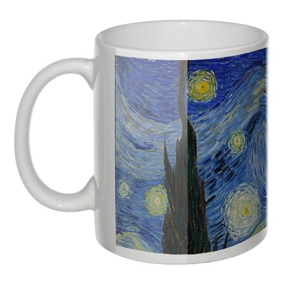 Перламутровая кружка Звездная ночь (Ван Гог)