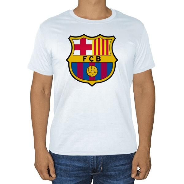 Белая футболка FC Barcelona