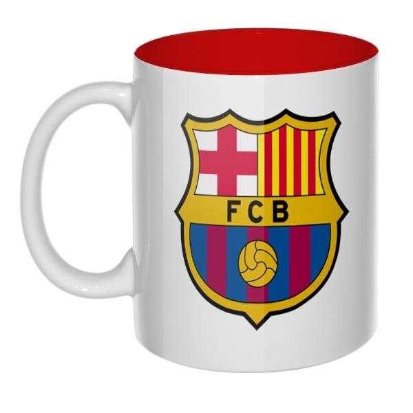 Кружка цветная внутри FC Barcelona