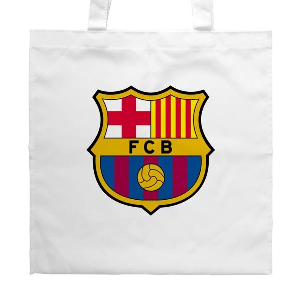 Белая сумка FC Barcelona