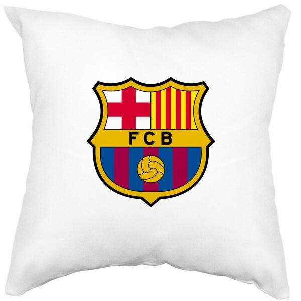 Подушка белая FC Barcelona