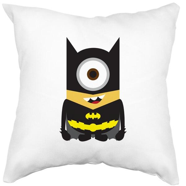 Подушка белая Batman Minion