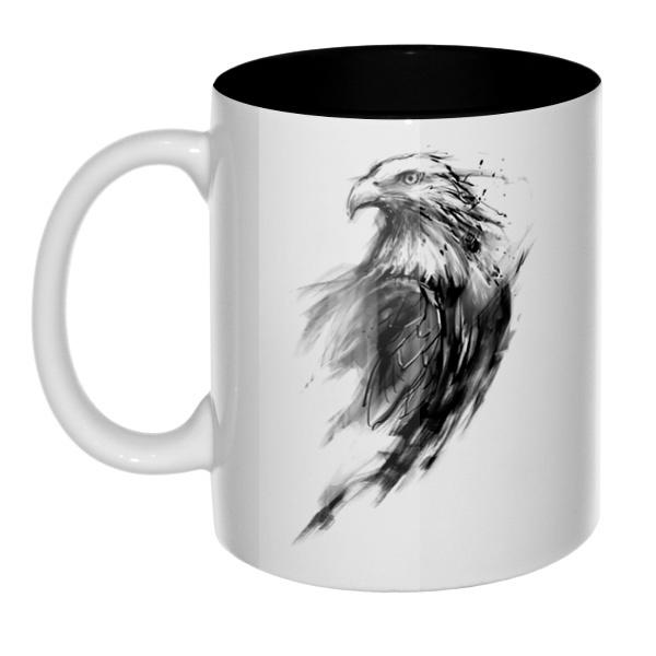 Орел, кружка цветная внутри