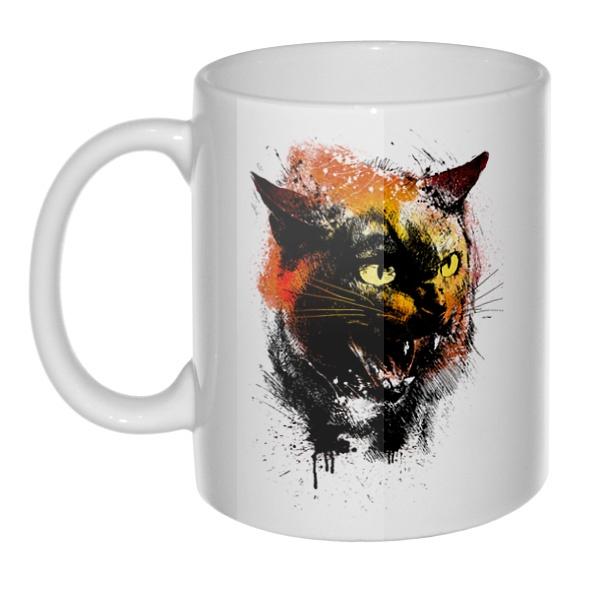 Кружка Рисунок агрессивного кота