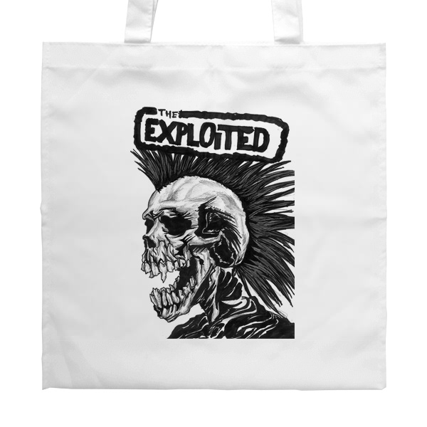 Белая сумка The Exploited