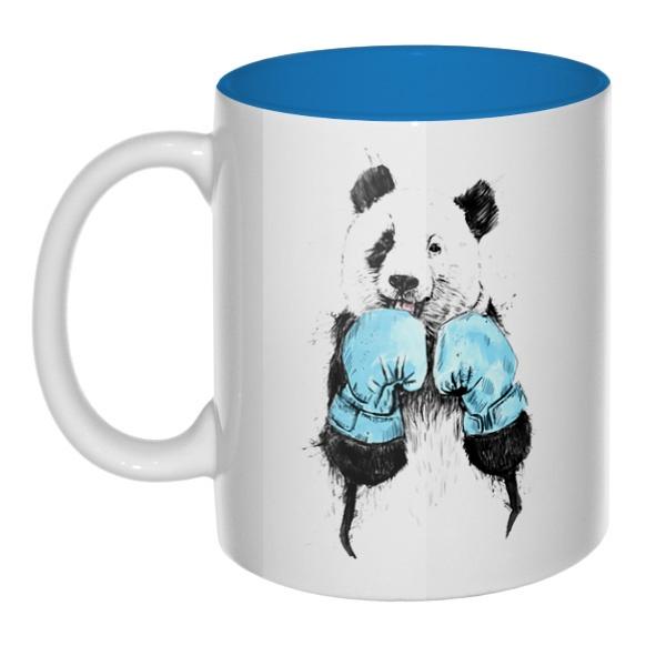 Панда-боксер, кружка цветная внутри