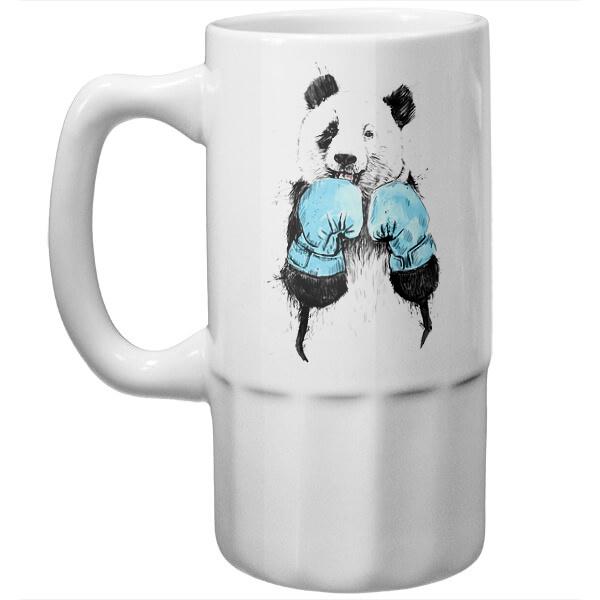 Пивная кружка Панда-боксер
