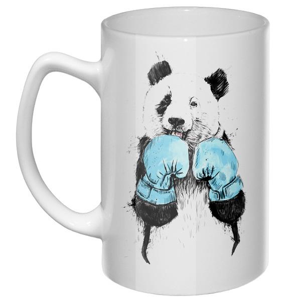 Большая кружка Панда-боксер