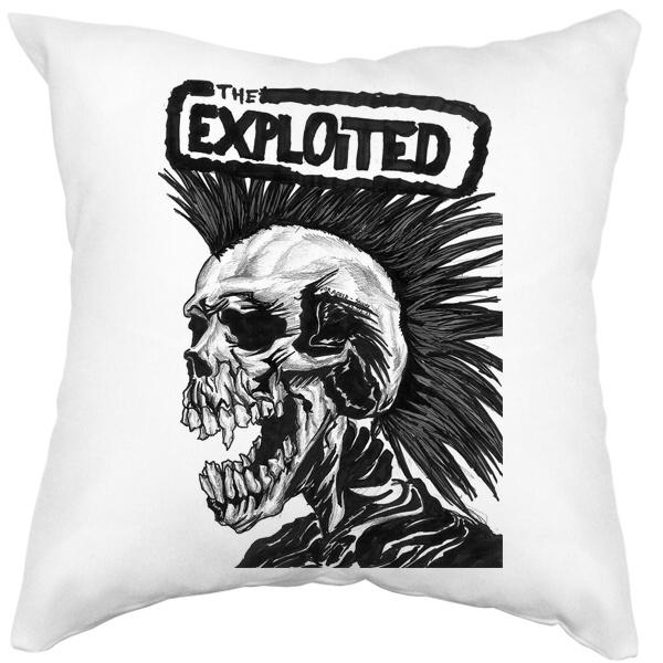 Подушка белая The Exploited